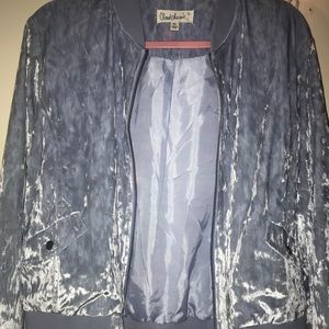 Light blue velvet bomber jacket  -BRAND NEW-